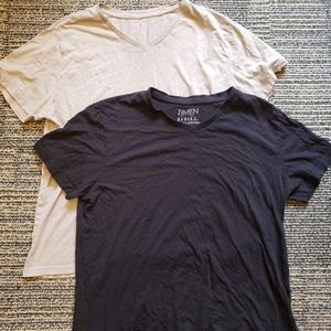 Bundle of 2 Mens Forever 21 Vneck Tshirts